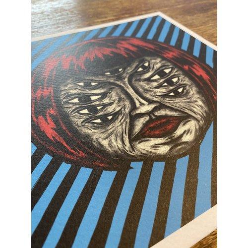 Creamlab Blue Ølga Print (20x20) by Kloes