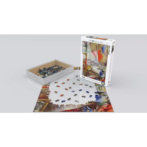 Eurographics Paris Through the Window Puzzle (1000 pcs) by Marc Chagall