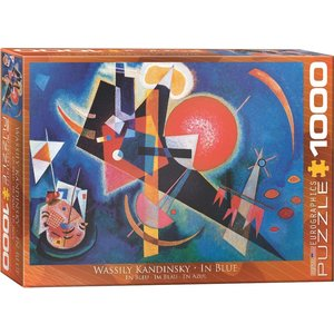 Eurographics In Blue Puzzle (1000 pcs) by Wassily Kandinsky