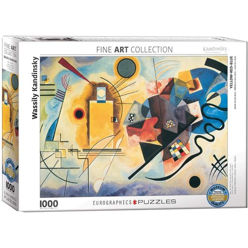 Eurographics Yellow Red Blue Puzzle (1000 pcs) by Wassily Kandinsky