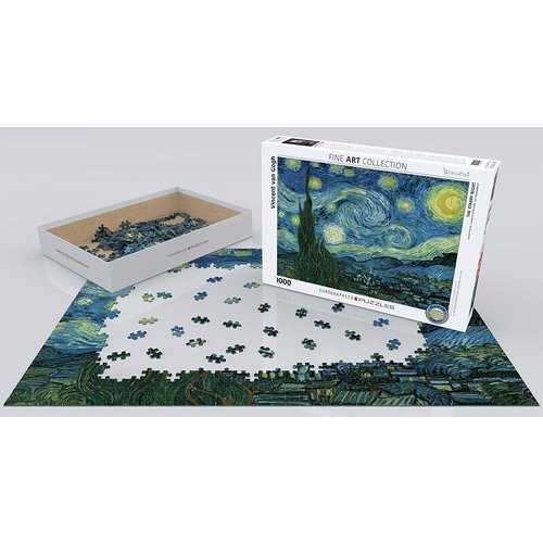Eurographics Starry Night Puzzle (1000 pcs) by Vincent Van Gogh