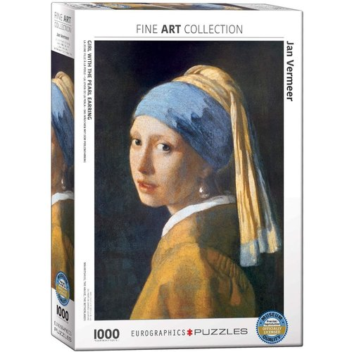 Eurographics Girl with the Pearl Earring Puzzle (1000 pcs) by Johannes Vermeer