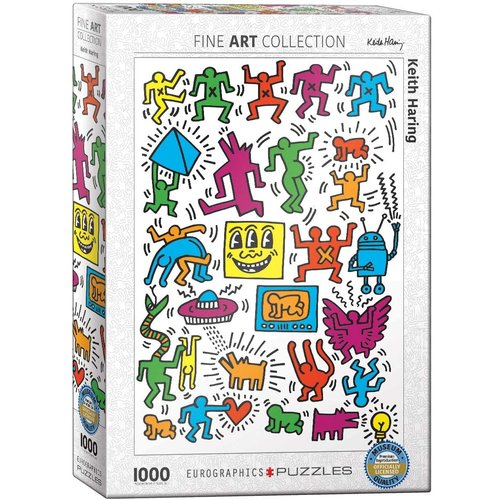 Eurographics Collage Puzzle (1000 pcs) by Keith Haring
