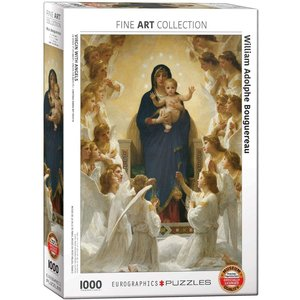 Eurographics Virgin with Angels Puzzle (1000 pcs) by William Adolphe Bouguereau