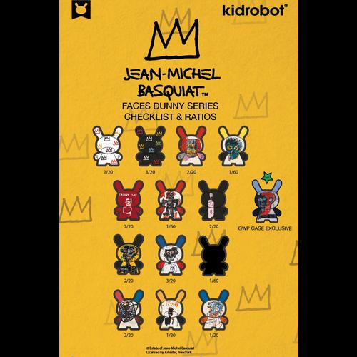 Kidrobot Jean-Michel Basquiat Faces Dunny series 2