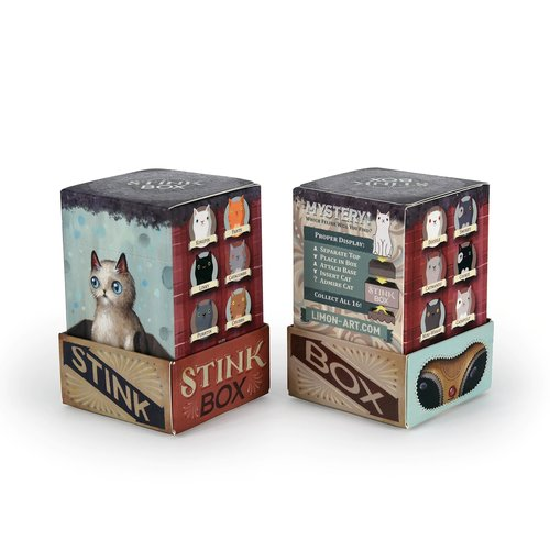 Dead Zebra inc. Stink box cat - blind box series by Jason Limon