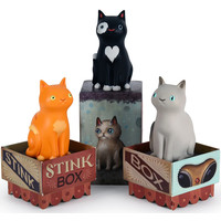 Stink box cat - blind box series by Jason Limon