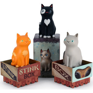 Dead Zebra inc. Stink box cat - blind box series by Jason Limon
