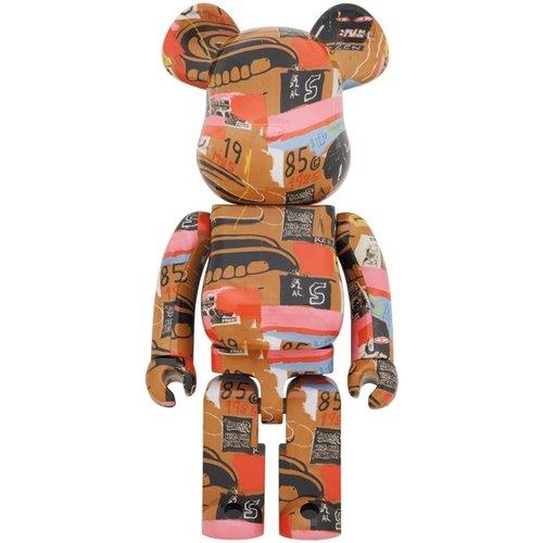 Medicom Toys [Pre-Order] 1000% Bearbrick - Andy Warhol x Jean-Michel Basquiat (V2 - Dentures)