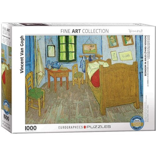 Eurographics Bedroom in Arles Puzzle (1000 pcs) by Vincent Van Gogh