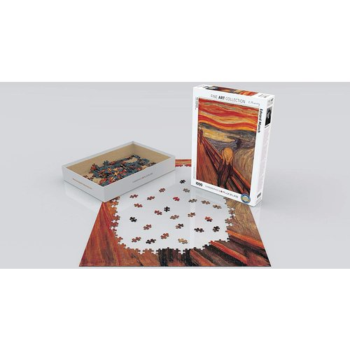 Eurographics The Scream Puzzle (1000 pcs) by Edvard Munch