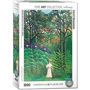 Eurographics Woman in an Exotic Forest Puzzle (1000 pcs) by Henri Rousseau