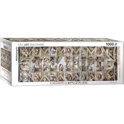 Eurographics The Sistine Chapel Ceiling Panorama Puzzle (1000 pcs) by Michelangelo