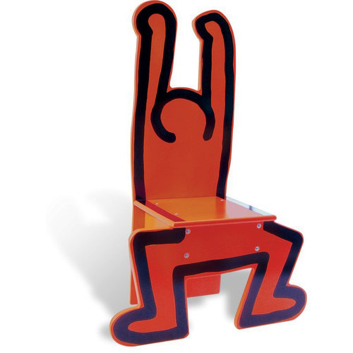 Vilac Standing Man Chair (Red) by Keith Haring