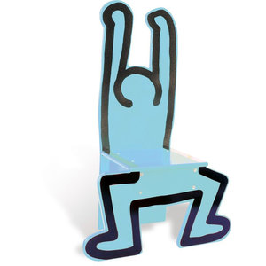 Vilac Standing Man Chair (Blue) by Keith Haring