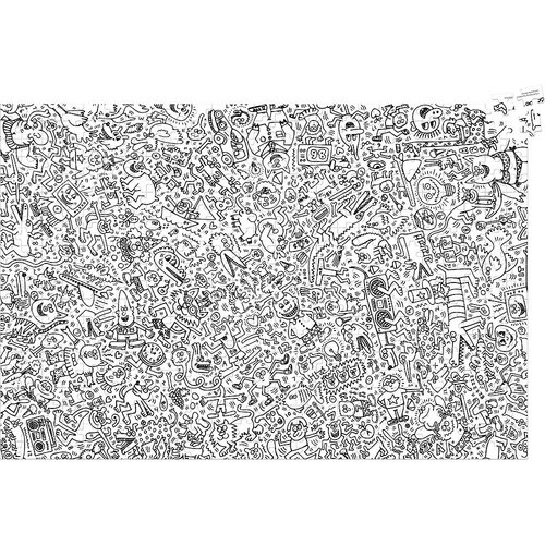 Vilac Haring Collage Puzzle (500 pcs) by Keith Haring