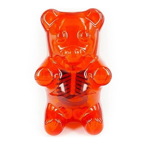 "4D Master 8.5"" Gummi Bear Anatomy (Clear Red) by Jason Freeny"