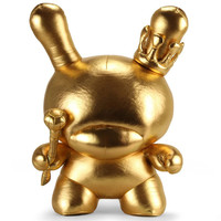 """20"""" Gold King Plush Dunny (Gold) by Tristan Eaton"""