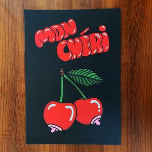 Creamlab Mon Chéri (Black) Print (A3) by Kloes