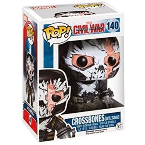 Funko Crossbones (Battle Damage) #140 (Captain America Civil War) POP! Marvel