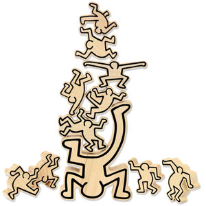 Vilac Stacking Game by Keith Haring