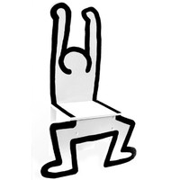Standing Man Chair (White) by Keith Haring