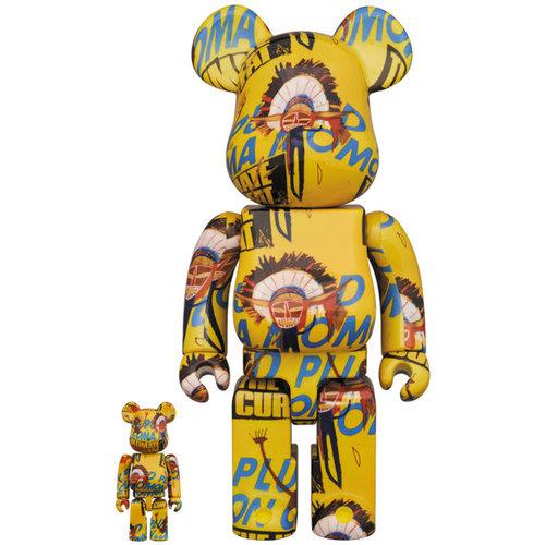 Medicom Toys [Pre-Order] 400% & 100% Bearbrick set - Andy Warhol x Jean-Michel Basquiat (V3 - Coma Mom)