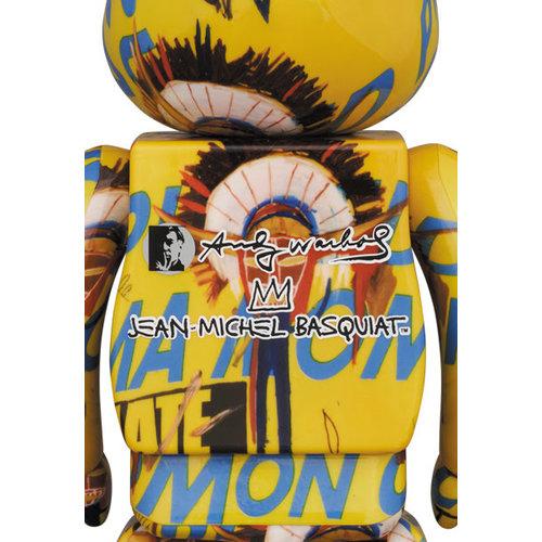 Medicom Toys [Pre-Order] 1000% Bearbrick - Andy Warhol x Jean-Michel Basquiat (V3 - Coma Mom)