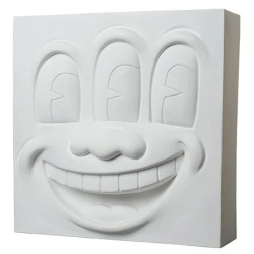 Medicom Toys Three-Eyed Smiling Face Statue (White Polystone) by Keith Haring (2G Exclusive)