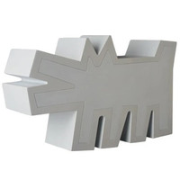 Barking Dog Statue (White Polystone) by Keith Haring (2G Exclusive)