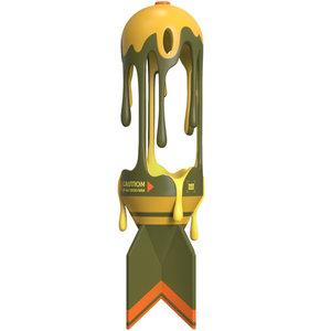 Mighty Jaxx Melting Missile (OG) by Jason Freeny