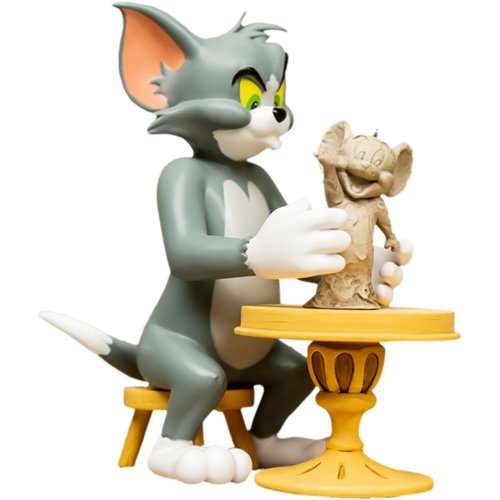Soap Studio Tom & Jerry The Sculptor Statue by Soap studios