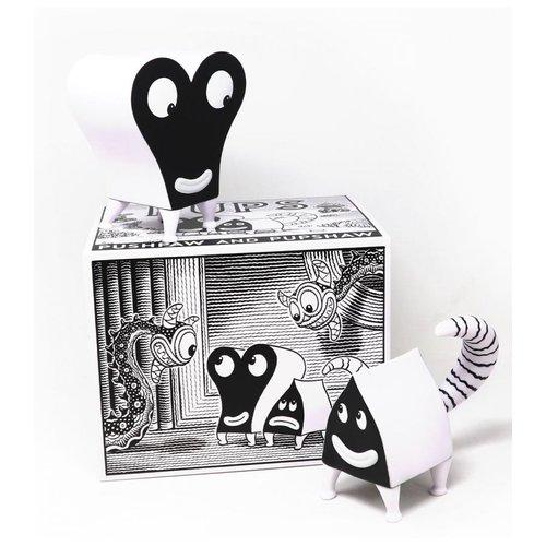 Presspop Gallery Pupshaw & Pupshaw (Black & White Edition) by Jim Woodring