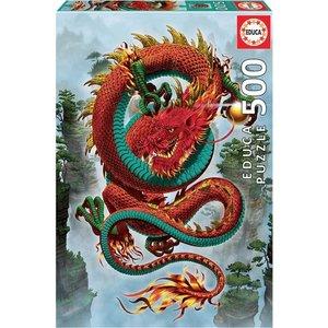 Educa The Dragon Puzzle (500 pcs) by Vincent Hie