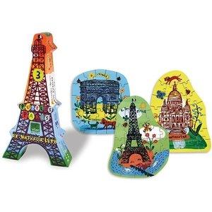 Vilac Eiffel Tower 3 Puzzles by Nathalie Lété