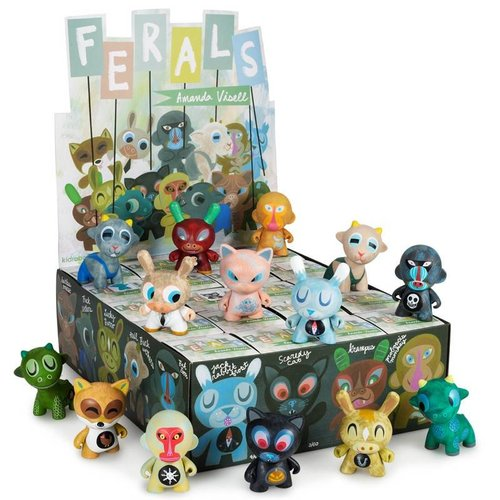 Kidrobot Ferals Mini Series by Amanda Visell - Sealed Case (20 pieces)