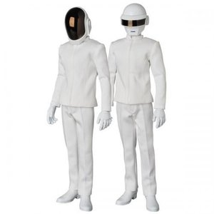 Medicom Toys 1/6 Daft Punk (White Suits ed.) R.A.H. set by Medicom