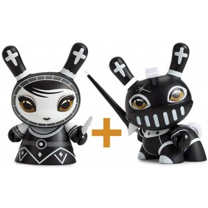 Pawn & Knight set (Black) Shah Mat Dunny by Otto Björnik