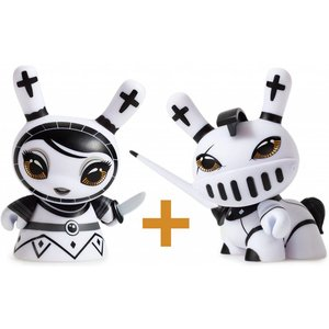 Pawn & Knight set (White) Shah Mat Dunny by Otto Björnik