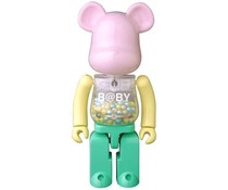 200% Super-Alloy Bearbrick - My First B@by (Pink & Green)