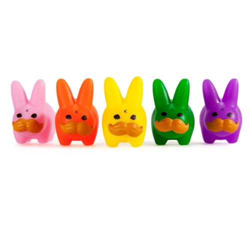 Kidrobot Mini Stache Labbit Pride Pack [5 pcs] by Frank Kozik