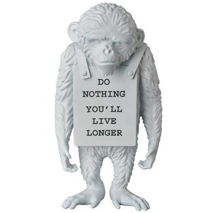 "Medicom Toys 14"" Monkey Sign (White) by Banksy x Medicom"