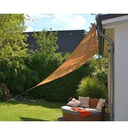 Sonnensegel Sichtschutz 3,6x3,6x3,6m beige UV-Schutz wasserabweisend 62315