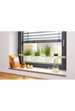Kräuter- und Pflanzenleiter für Fenster von 72,5-111,5cm weiss 200240201-HE