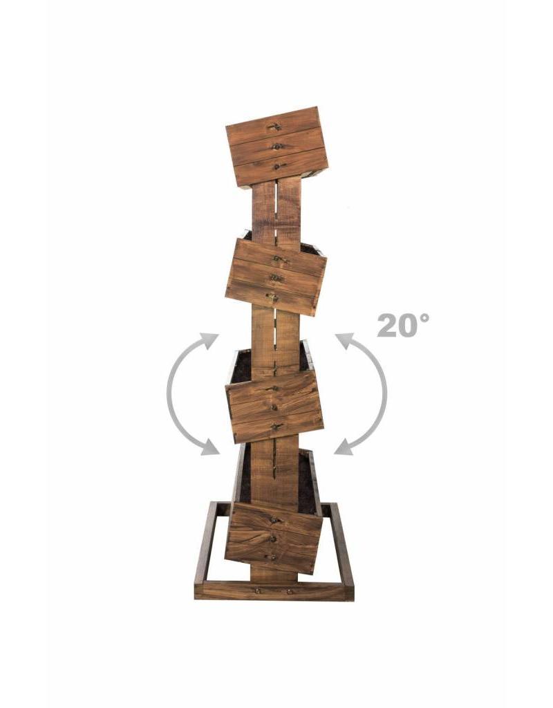 Hochbeet mit vier beweglichen Kästen H45cm B50cm aus Holz 301960108-HE