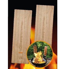 2 Ersatz Flammlachsbretter Grillbretter für Lachs Buchenholz 45x15cm 2355