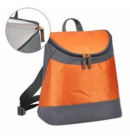 Rucksack mit Kühlfunktion mit 2 Tragegurten orange/grau 66309