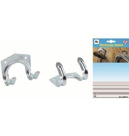 Kraftmann 80913 Werkzeughalter Gerätehalter für T-Stiele Gartengeräte 4tlg