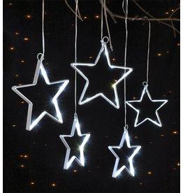 LED Lichterkette mit warmweiss Stern Motiven für innen und aussen 76832