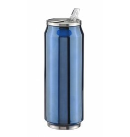 Edelstahl Autobecher Isolierbecher Thermobecher doppelwandig 500ml blau 26048